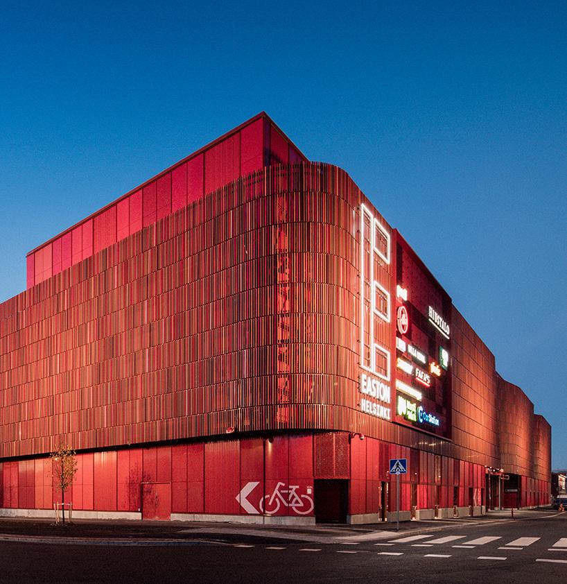 Lahdelma Mahlamki Clads Helsinki Shopping Center With Undulating